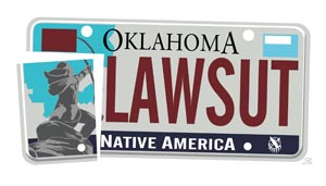 License plate native american protested by christians