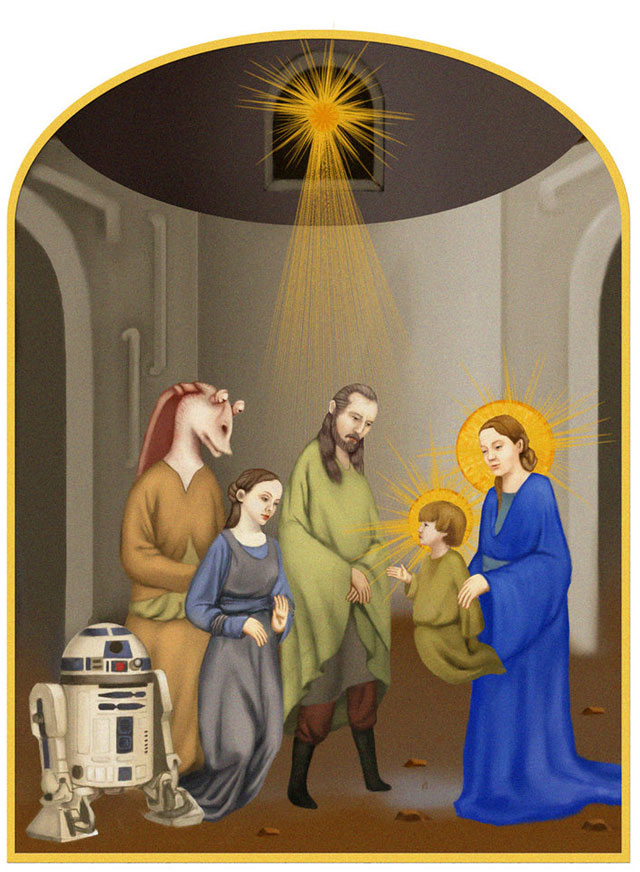 star wars icons aniken birth nativity
